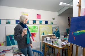 Angie in her studio